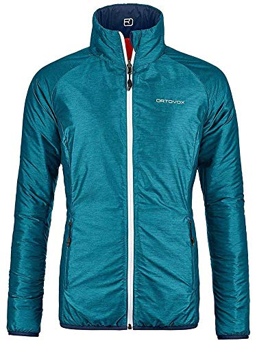 ORTOVOX Swisswool Piz Bial Jacket, Giacca Donna, Misto Acquamarina, S