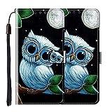 vingarshern Hülle für Elephone S3 Handytasche Klappbares Magnetverschluss Lederhülle Flip Leder Etui Standfunktion Schutzhülle Elephone S3 Hülle Brieftasche (Eule) MEHRWEG
