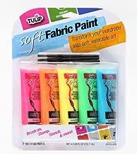 TULIP 29376 Soft Neon Fabric Paint, 5-Pack
