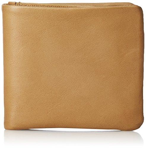 [メタフィス] 折り財布 ナチュラルで柔らかいシープレザーのFammシリーズ キャメル