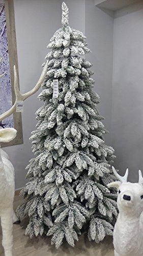 Salone Negozio Online Albero di Natale TARVISIO CM.210 Rami in PE-PVC Base CM.124 Interno/Esterno