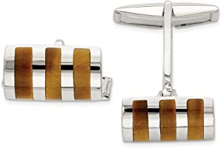 925 Sterling Silver Tigers Eye Cuff Links Mens Cufflinks Link Man Fine Jewelry For Dad Mens Gifts For Him