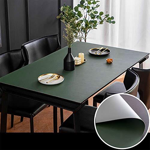 YINGLUO Mantel para mesa de comedor, protector de mesa, alfombrilla de escritorio, doble hule de cuero, sin arrugas, para el hogar, oficina, bufé