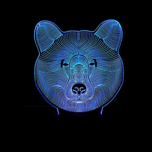 Nachtlampje Nachtlampje LED 3D-lamp Illusie Kinderlamp voor slaapkamer Nachtkastje Meisje Zoon Verjaardagscadeau Deco Creatieve sfeer met USB-kabel en afstandsbediening