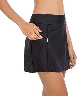 Swim Bottoms for Women Swim Skirt Bikini Tankini Bottom with Side Pocket