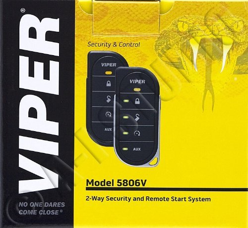 Viper 5806V 2-way Security System w/Remote (Renewed)