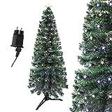 Arcoiris �rbol de Navidad Verde LED �rbol de Fibra Óptica de Navidad con el Cambio de Color Luz LED + Fibra Óptica (60CM, Óptica con Estrella Color)