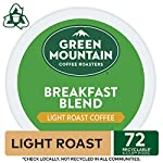 Green Mountain Coffee Roasters Breakfast Blend, Single-Serve Keurig K-Cup Pods, Light Roast Coffee, 72 Count 17 Taste: an eye-opening Decaf as delightful as the dawn itself. Clean and bright, with balanced sweetness, nutty flavor, and a silky mouthfeel. Roast: light roast, 100% Arabica decaffeinated coffee and is certified Orthodox Union Kosher (U) Sustainability: committed to 100% responsibly sourced coffee by end of 2020
