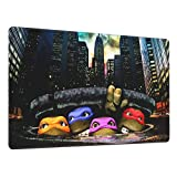 Mouse Pad Nin.Ja Turtles Large Gaming Mousepad Extended Desk Mat Ultra Thick Mousepad for Office Gamer Home 29.5