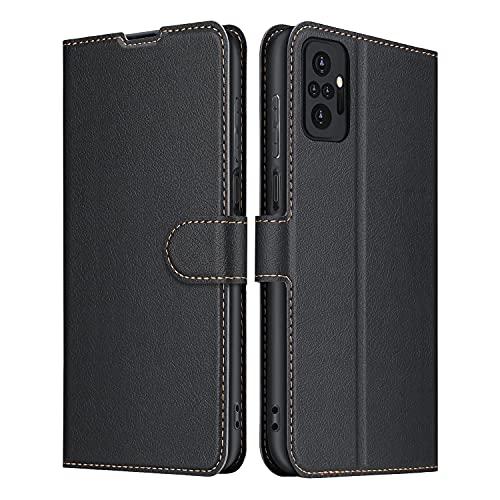ELESNOW Funda Redmi Note 10 Pro/Note 10 Pro MAX, Premium Cuero Billetera Flip Protectora Carcasa Magnético para Xiaomi Redmi Note 10 Pro/Note 10 Pro MAX (Negro)