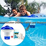 Dr.Icey Swimming Pool Cleaning Tablets,Multifunction Chlorine Tablets and Dispenser