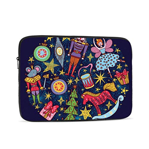 Macbook 2018 Case Christmas Dancing Girl and Soldier Laptop Protector Case Multi-Color & Size Choices10/12/13/15/17 Inch Computer Tablet Briefcase Carrying Bag