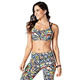 Zumba Fitness Beach Baller Bra Top, Mujer, Beach Baller Bra, Azul Claro, Medium