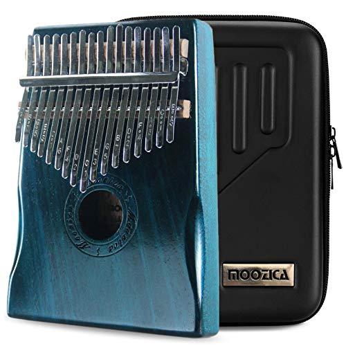 Moozica 17 teclas Kalimba, piano marimba de pulgar de madera de tono sólido de alta calidad con estuche protector e instrucción de aprendizaje (Mahogany-K17BL)