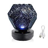 Lámpara de Mesita Luz de la luz de la galaxia de la luz de la galaxia Lámparas de la noche del cielo estrellado for la lámpara de la habitación del espacio de la iluminación del espacio de la luz noct