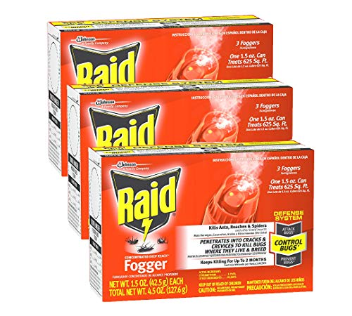 Raid Concentrated Deep Reach Fogger 1.5 Ounce (Pack of 3)