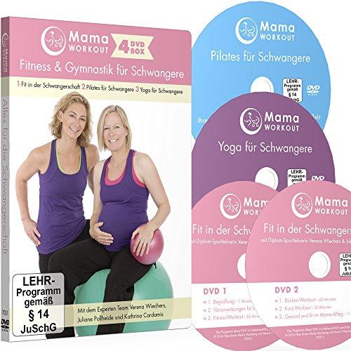 MamaWORKOUT - Fitness & Gymnastik für Schwangere - 4-DVD-Box zum Sparpreis ++ 1. Fit in der Schwangerschaft (2 DVDs) ++ 2. Pilates für Schwangere ++ ... Schwangere ++ von Expertin Verena Wiechers