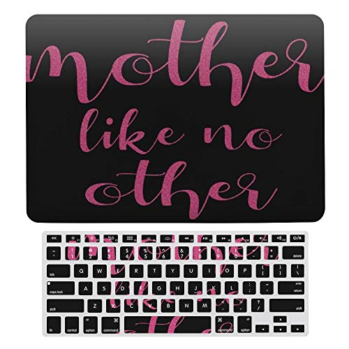 Macbook Air 13 Inch Case(A1369 & A1466, Older Version 2010 2017 Release), Plastic Hard Protective Laptop Case Shell With Keyboard Cover, Pink Glitter Mother Like No Other Mothers Day Moms