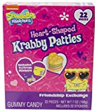 Spongebob Squarepants Valentines Day Gummy Krabby Patties and Stickers Exchange Kit, 7 Ounce