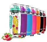 willceal Wasserflasche mit Fruchteinsatz 945 ml –Hochwertig und beständig – Groß, BPA-frei, aus Tritan – Aufklappbarer Deckel mit Tragegriff – Auslaufsicheres Design (Mint)