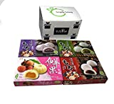 Japanese Mochi Variety Pack: Red Bean, Taro, Green Tea, and Lychee Royal Family Total 29.6oz - Packed in Fusion Select Gift Box by Fusion Select