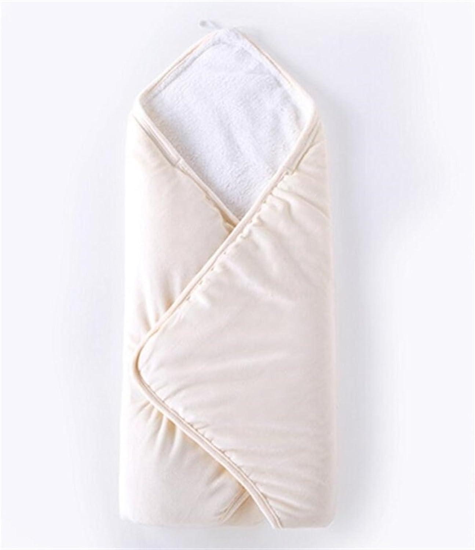 Baby Sleepsack Newborn Infant Baby Solid color Swaddle Plush Sleeping Wrap Blanket Suitable for 0-3 Months Cartoon Sleepsacks