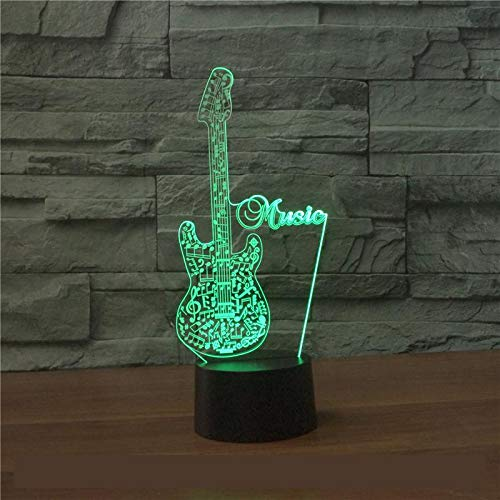 LIkaxyd LED-3D Nachtlicht USB-powered 7-Farben-Touch-Schalter Schlafzimmer dekoratives Licht für Kindergeburtstag Weihnachtsgeschenke und Partydekorationen -Tier, Gebäude, Geometrie, Landschaft