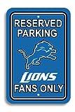 Fremont Die NFL Detroit Lions Team Sign, 12' x 18', Reserved Parking Sign
