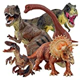 "Winsenpro 5PCS Jumbo Dinosaur Set,13"" Realistic Looking Dinosaur Toy Set for Party Gift,Boys Girls Children s Birthday Gifts (5PCS Dinosaurs)"
