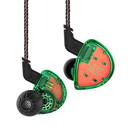KZ ES4 In Ear KopfhOerer Wired KopfhOerer HiFi OhrhOerer, Yinyoo KZ Headsets In Ear Monitor Hochwertige KopfhOerer Stereo Earbuds Sport KopfhOerer Fuer alle 3,5 mm Audio-GerAete (Gruen kein Mic)