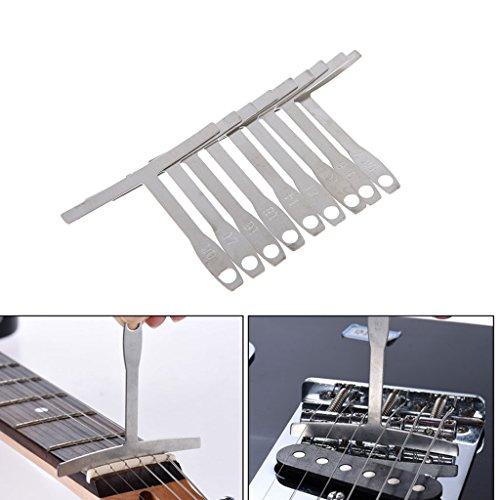 bhty235, Lineal Messwerkzeug 9 teile/satz Understring Radius Gauge Metal für Gitarre und Bass Setup Luthier Tools