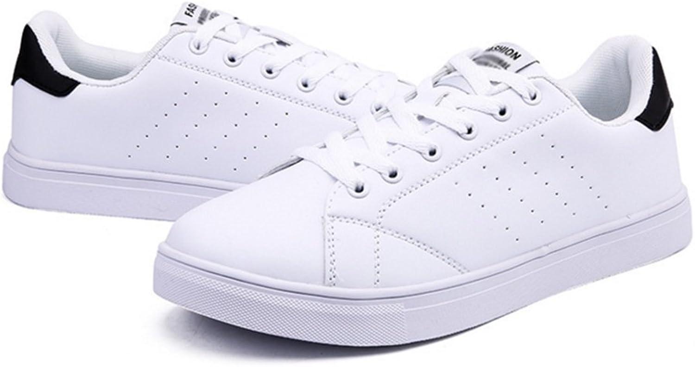 RENMEN Frühlings- und Sommergezeitenschuhe verbinden weie Schuhe beschuht gezeitenfrauen und -Frauen zufllige Wilde Flache weie Schuhe 36-43, schwarz