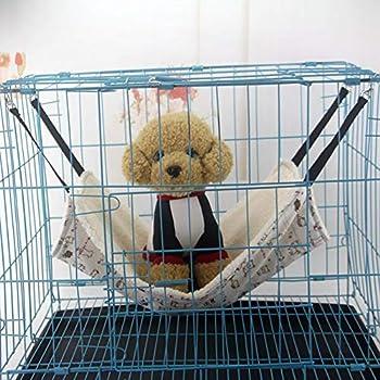 IEUUMLER Soft Tapis de lit pour Chat Suspendu Chat Doux Hamac Comfortable Sleeping Mat Matelas de Cage IE144