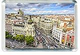 H241 Madrid Imán para Nevera Spain Travel Fridge Magnet