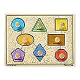 Melissa & Doug Deluxe Jumbo Knob Puzzle - Geometric Shapes