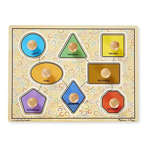 Geometric Shapes Jumbo Knob Wood Puzzle