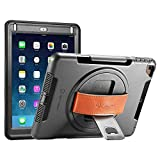 ipad air 2 battery case - NEW TRENT iPad Case for iPad 6th Generation Cases, iPad Air 2 Case, iPad Air case, Full-Body Hand Strap iPad 5th Generation case with rotational Kickstand Dual Layers Built-in Screen Protector