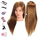 Beauty Star Mannequin Head, 20 Inches Long Hair Cosmetology Mannequin Manikin Pratice Training