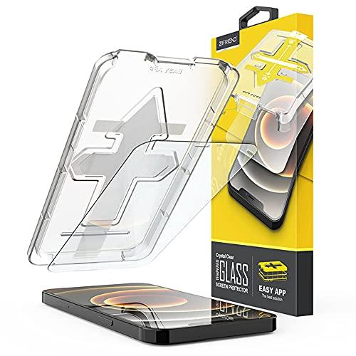 9H Tempered Glass Panzerfolie mit Kristall Klaren Sicht für das (iPhone 12/12 Pro) mit Easy App Installationskit - Pablo22