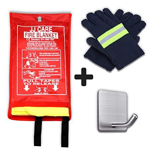 JJ CARE Premium Fire Blanket (UPGRADED) Fire Suppression Fire Fighting Blanket Fiberglass Cloth (40