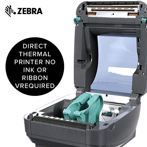 Zebra - GX420d Direct Thermal Desktop Printer for Labels, Receipts, Barcodes, Tags, and Wrist Bands - Print Width of 4 in - USB, Serial, and Parallel Port Connectivity (Renewed) Photo #5