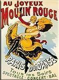 qidushop - Placa de Aluminio para Pared, diseño de Moulin Rouge de París