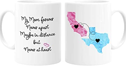 Mom, Personalized Long Distance State Coffee Mug, Mother's Day Gift, Gift for Mom, 11oz or 15oz