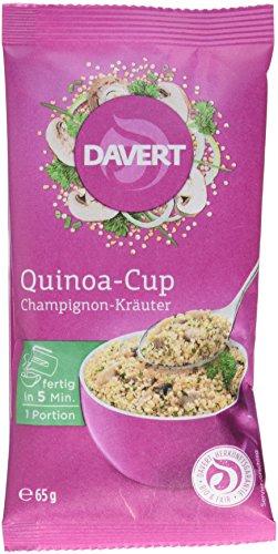 Davert Quinoa-Cup Champignon-Kräuter, 8er Pack (8 x 65 g)