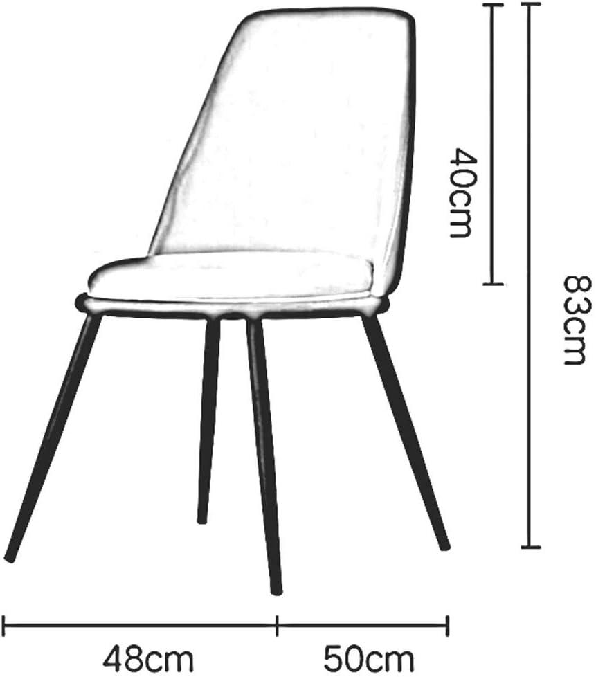 DALL Chaise De Salle à Manger,Pied en Métal,Coussin PU,Chaise De Table avec Dossier,Chaise De Maquillage De Loisirs Nordiques,Antidérapant Durable,Facile à Assembler(Color:T2) T9