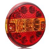ETUKER LED luz trasera de remolque camión trasero redondo hamburguesa luz trasera impermeable indicador de parada lámpara 10~30 V para remolque camión camión caravana o furgoneta