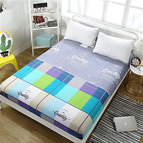 FJMLAY Sábanas de algodón para Cama, Almohadillas de protección Antideslizantes para Apartamentos de Dormitorio-E_150cmx200cm