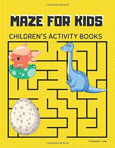maze for kids , Children's Activity Books: games for kids 8-12 laser maze, missing links puzzle book, maze books for children