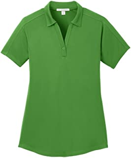 Ladies Diamond Jacquard Polo, Vine Green, XX-Large