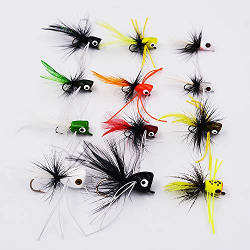 Bass Popper Dry Fly Fishing Lure Kit Panfish Bait (color3)